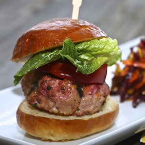Turkey + Beets + Carrots + Cilantro Mini Burger