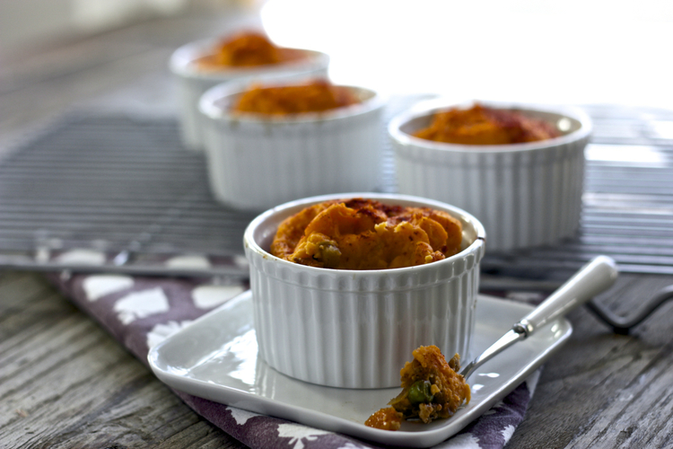 Turkey + Sweet Potato Mini Shepard Pie