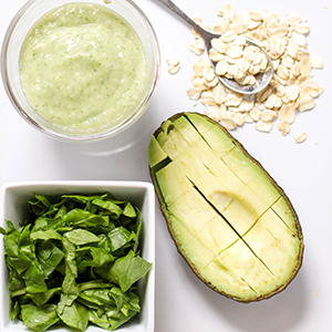 Oats + Spinach + Avocado Puree