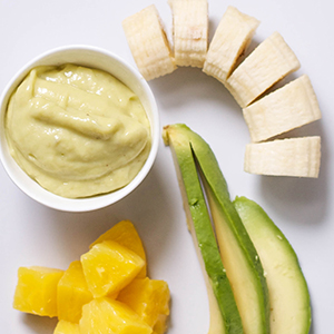 Avocado + Pineapple + Banana Puree