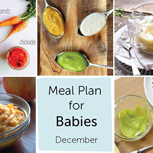 Meal Plan for Babies - December