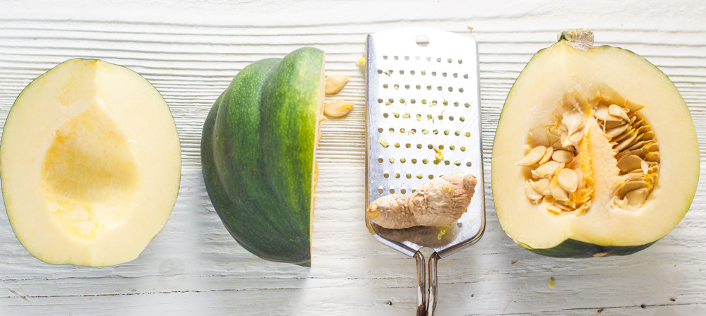 acorn squash + ginger puree - smooth and mild puree that is perfect for first puree