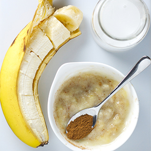 Banana + Coconut Milk + Cinnamon