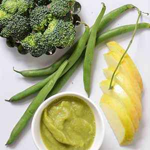 Apple + Green Beas + Broccoli Puree