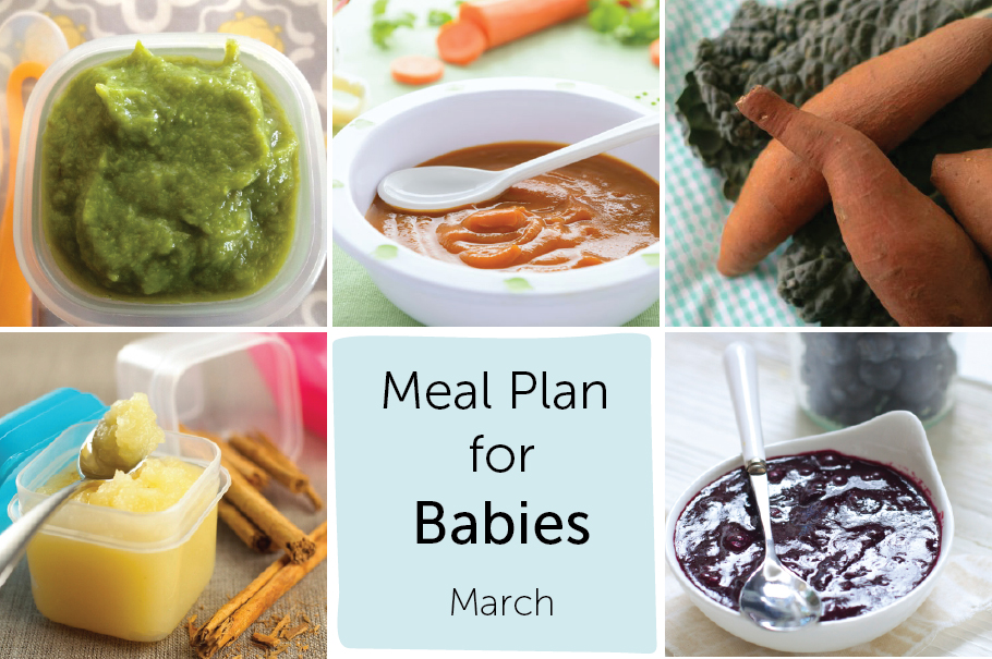 meal plan for baby - March