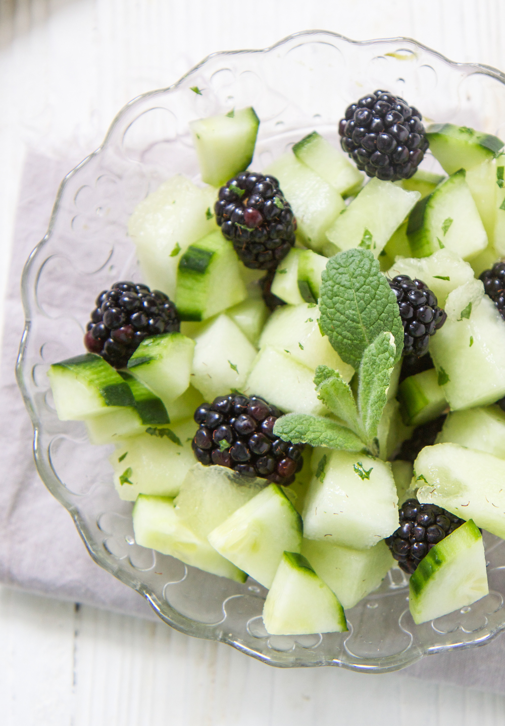blackberry cucumber melon finger salad babyfood