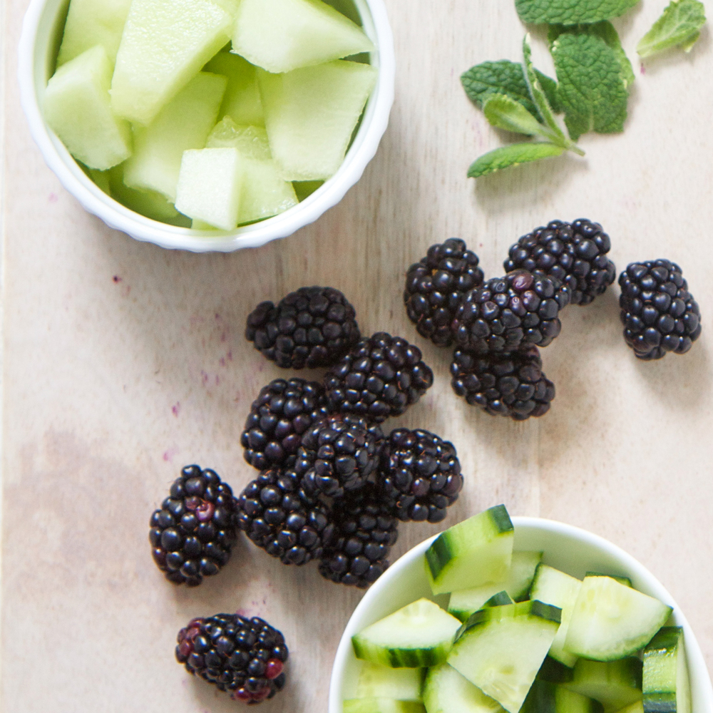 Blackberry + Cucumber + Melon Toddler Finger Salad