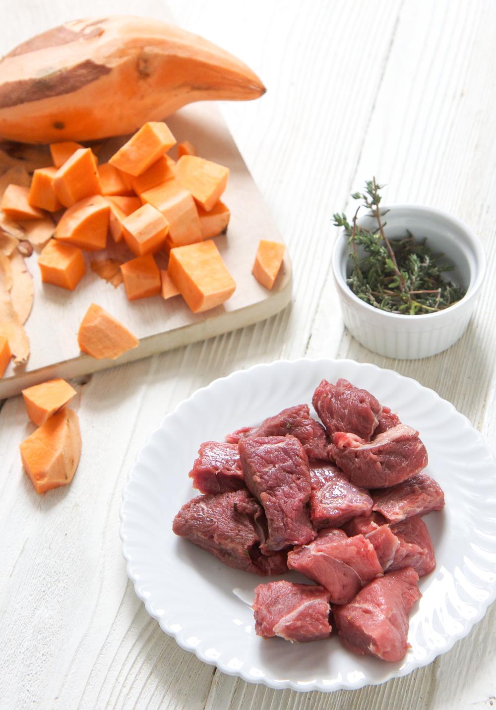 beef sweet potato thyme - babyfoode