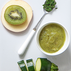 Zucchini + Apple + Kiwi Puree with Mint