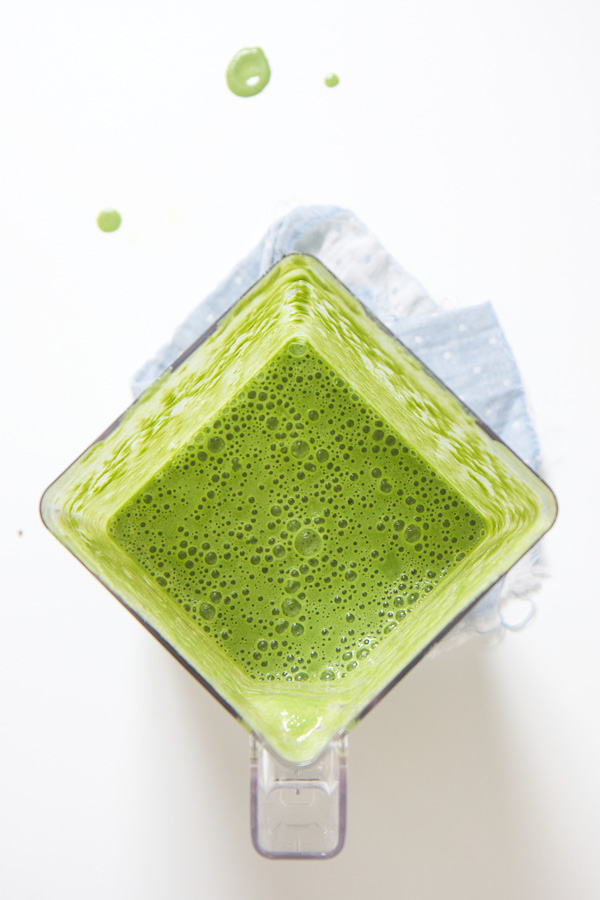 green toddler smoothie - blendtec - babyfoode