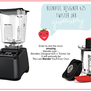 Blendtec Designer 625 + Twister Jar Giveaway