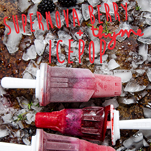 Supernova Berry + Thyme Ice Pop // Giveaway for Space Pop Mold// Closed//