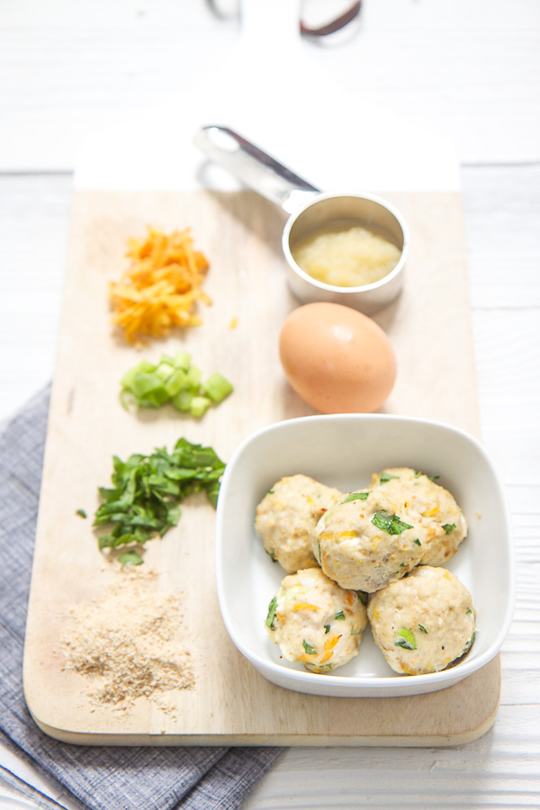 Mini Chicken Carrot Meatballs For Baby Baby Foode Adventurous