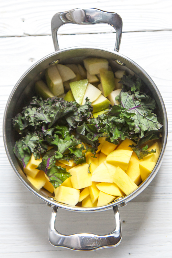 mango kale baby food puree