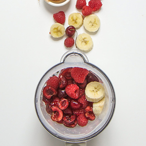 Raspberry + Cherry + Banana with Cinnamon Puree