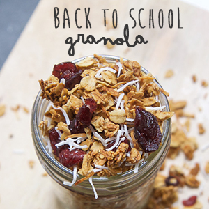 Back To School Granola with Cranberries + Coconut