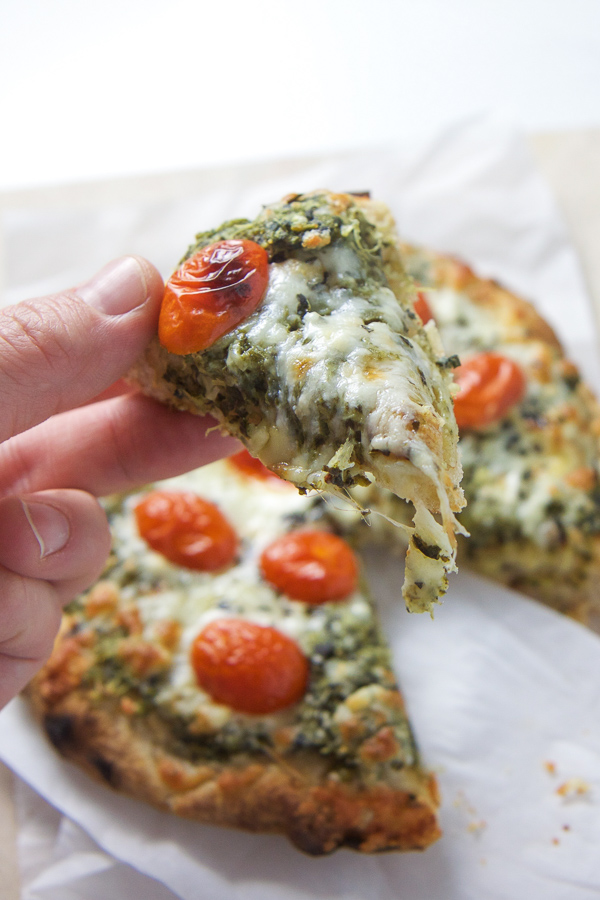 spinach artichoke pizza - toddler family