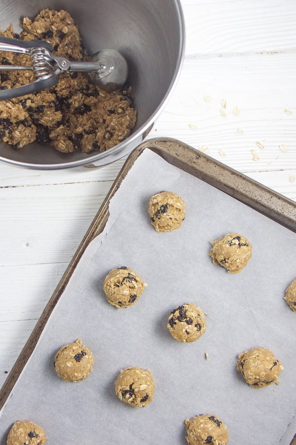 How to make healthy blueberry oatmeal cookies for toddlers and kids.