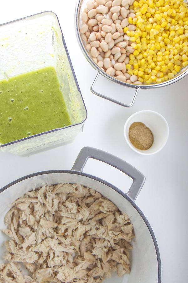 How to make kid friendly chicken chili verde.