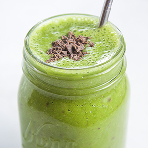 Green Mint Chocolate Smoothie
