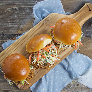 Pulled Pork Sandwiches with Apple Slaw