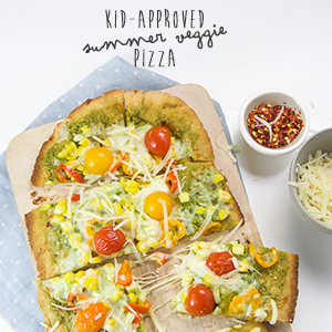 Kid-Approved Summer Veggie Pizza