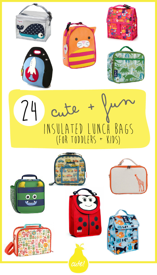 24 Cute + Fun Insulated Lunch Bags (for Toddlers + Kids)