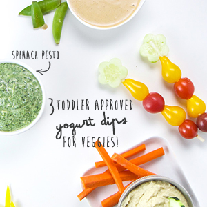 3 Toddler Approved Yogurt Dips for Veggies