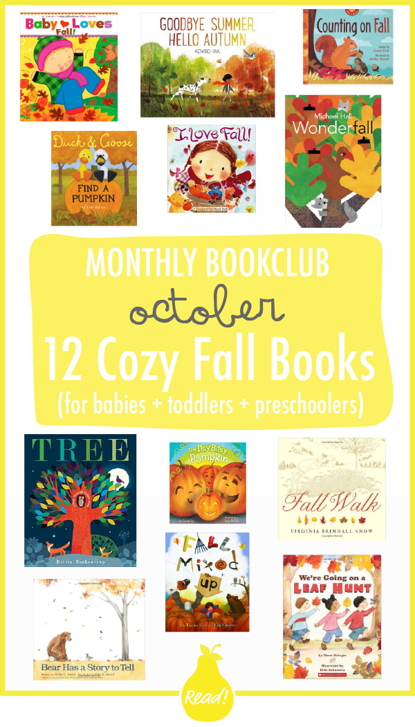 Bookclub October - 12 Cozy Fall Books (for babies, toddlers & preschoolers)