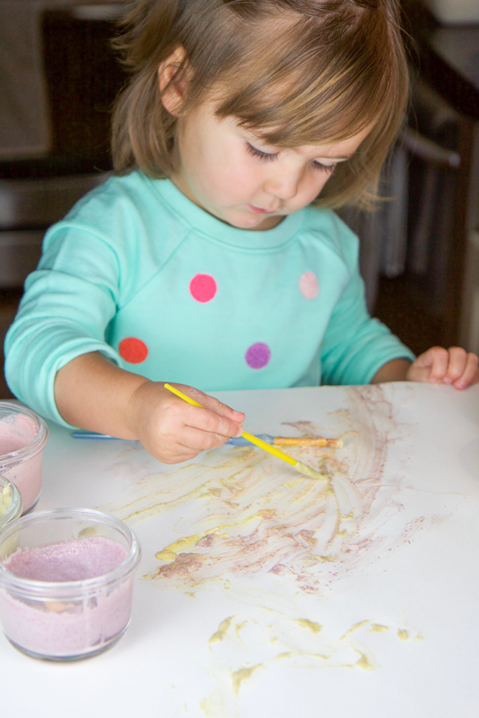 Easy, Natural (and Edible!) Finger Paint for Baby