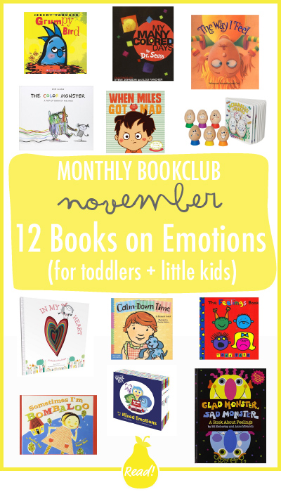 Bookclub November - 12 Books on Emotions (for toddlers + little kids)