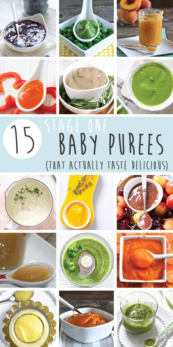 15 Stage One Baby Purees (that actually taste delicious)
