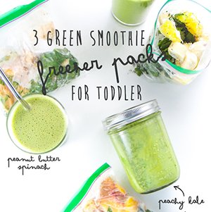 3 Green Smoothie Freezer Packs for Toddler