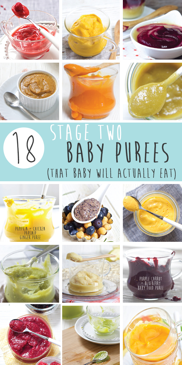 18 Stage 2 Baby Purees (That Baby Will Actually Eat)
