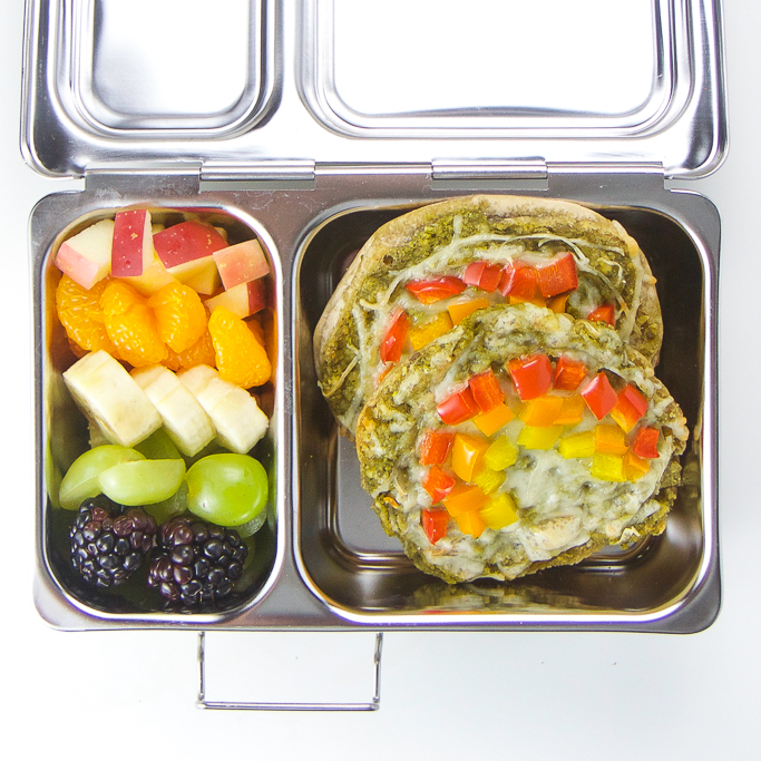 Veggie-Loaded Toddler Rainbow Pizzas