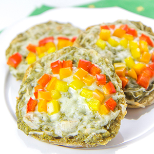 Veggie-Loaded Toddler Rainbow Pizza