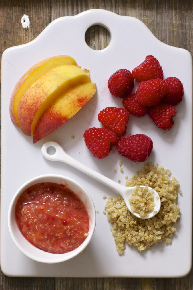 These 15 Red Baby Purees for a Healthy Heart taste delicious and are good for your little one's health! Teach baby from day one that healthy food can be delicious! These easy homemade red baby food purees are nutrient dense, extremely colorful, and full of vitamin rich fruits and vegetables. You'll find a variety of both Stage One and Stage Two puree recipes for babies of all ages. #babypuree #hearthealthy