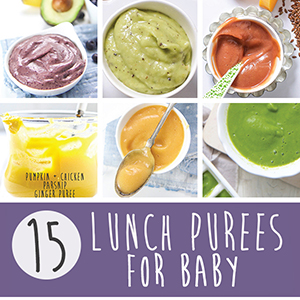 15 Lunch Purees for Baby