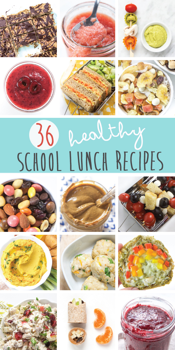 36 HEALTHY SCHOOL LUNCH RECIPES