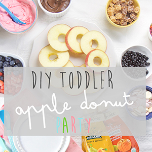 DIY Toddler Apple Donut Party