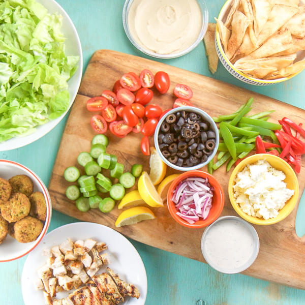 DIY Family Dinner - Greek Platter