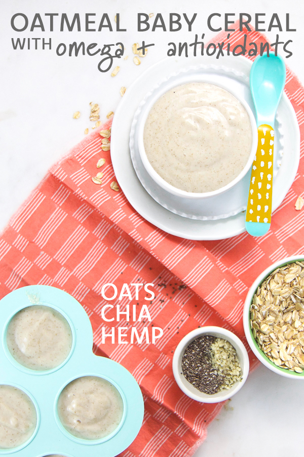 Oatmeal Baby Cereal with Omega-3s + Antioxidants