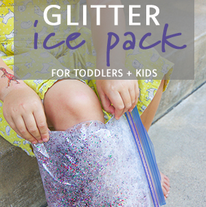 Glitter Ice Pack for Toddlers + Kids