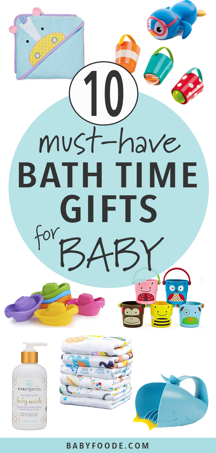 Does your baby love bath time? These Bath Time Fun Gifts for Baby will turn any bath time into fun time! These bath toys will bring endless hours of fun to baby's bath time routine. #baby #christmas #gift #giftguide #bath