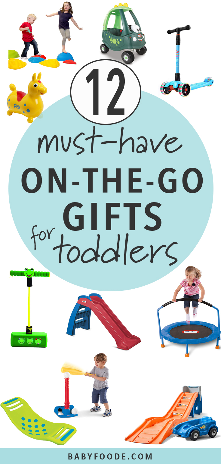 These On-The-Go Gifts are perfect for those toddlers that just can't sit still! These toys will entertain your toddler for hours while hopefully getting all of their wiggles out. #toddler #giftguide #christmas
