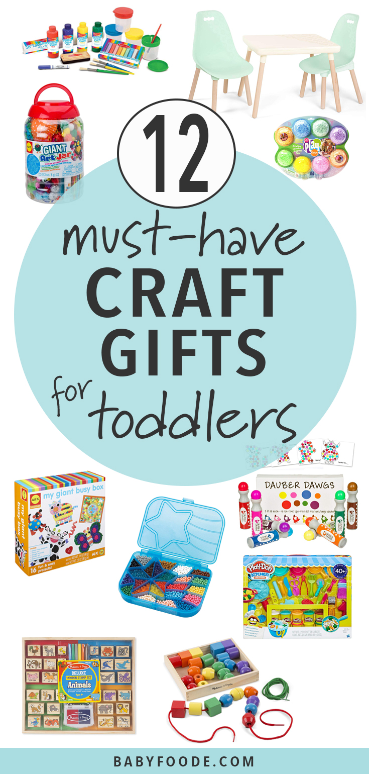 These Craft Time ideas and gifts are a fun way to let toddlers explore their artistic side! Find some of our favorite messy and non-messy craft time staples for toddlers. #crafts #toddlers #giftguide