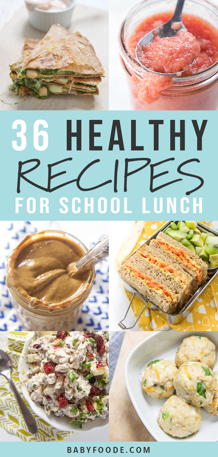 Healthy School Lunch Recipes that your kids will love! These packed lunch recipes are filled with wholesome ingredients, packed with nutrients and will keep your little one satisfied all afternoon. They are made for kids, and kid tested! #backtoschool #lunch #school #healthy #healthyrecipes #kids #toddlers