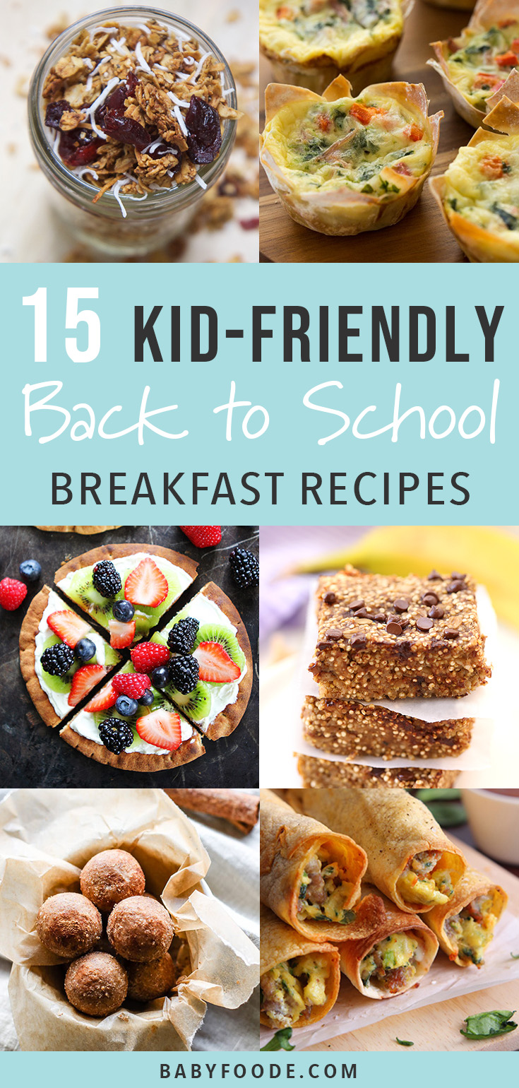 This is my favorite collection of easy, healthy back to school breakfast recipes for the entire family! Every recipe is easy and nutritious, and best of all, both mom approved and kid approved. Start the day off so right for your kids and toddlers with these healthy breakfasts for school mornings! #breakfast #kidfriendly