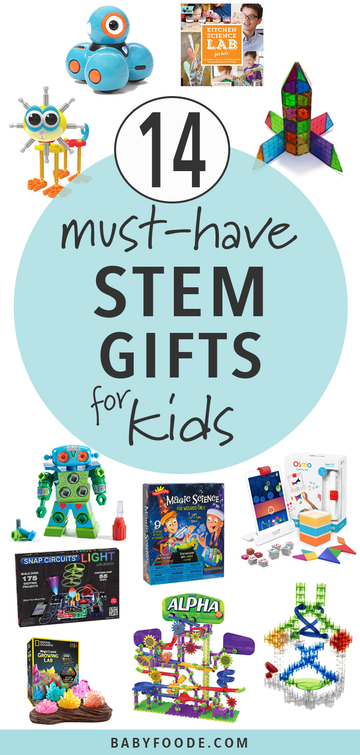 Find the perfect STEM gift for the science or technology loving kid in your life! You'll find 14 must have STEM toys and activities for gifting this holiday season. #stem #giftguide #kids #christmas #shopping