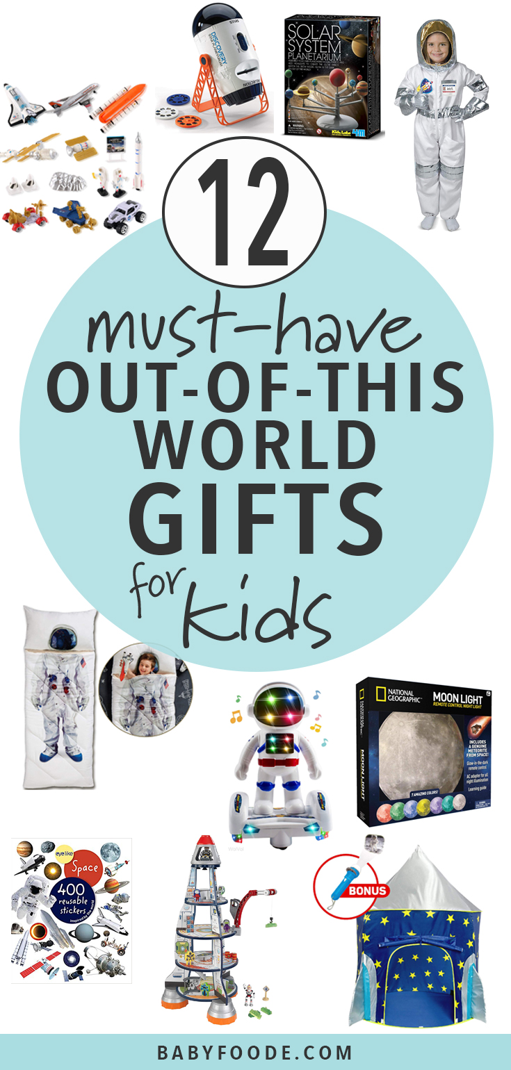 Do you have a kid obsessed with space? This is the gift guide for you (and them!!). Find 12 out of this world space-related toys and gifts for kids this christmas season. #toys #space #christmas #giftguide #shopping